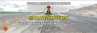 The Federal Government of Nigeria N100 Billion Sukuk Offer Closes September 22, 2017 Invest Now!